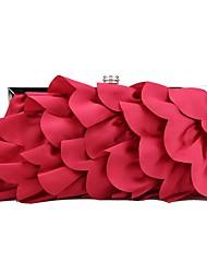 abordables -Femme Châssis / rubans / Fleur Soie Pochette Couleur unie Rouge / Gris