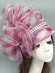 cheap -Net Fascinators / Hats / Headwear with Bowknot / Ruching / Side-Draped 1 Piece Wedding / Special Occasion Headpiece