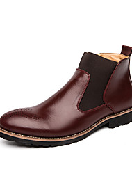 cheap -Men's Fashion Boots PU Spring / Fall & Winter Casual / British Boots Booties / Ankle Boots Black / Brown / Burgundy