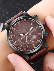 cheap -Men's Dress Watch Quartz Formal Style Modern Style PU Leather Black / Blue / Brown No Calendar / date / day Cool Day Date Analog Casual Fashion - Black Brown Blue One Year Battery Life