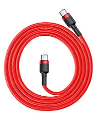 cheap -Baseus  Cafule Series Type-C PD2.0 60W Flash charge Cable(20V 3A) 1M Red/Grey/Black