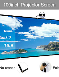 cheap -169 106*59 inch portable Projection Screen foldable no crease for home theater outdoor