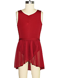 cheap -Kids' Dancewear Leotards Girls' Training Mesh / Lycra Gore / Split Sleeveless Natural Skirts / Leotard / Onesie
