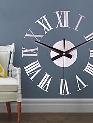 cheap -Luxury Rome Wall Clock Vogue Roman Numerals Wall Clocks Ornaments DIY Simple Self Adhesive Interior Creative Decoration Clock
