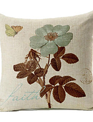 cheap -1 pcs Linen Pillow Cover, Geometic Casual Travel Pillow