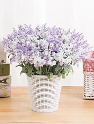 Недорогие -10 лаванда искусственный цветок завод шелк цветок свадебные украшения дома 2 палочки