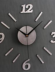 cheap -Modern Style Digital Clock Numbers DIY Adhesive Wall Clock Sticker Living Room Office Restaurant Pared Horloge Hanging Decor
