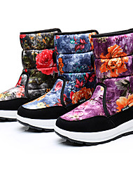 cheap -Boys' Snow Boots Suede Boots Little Kids(4-7ys) / Big Kids(7years +) Buckle / Flower Black / Purple / Blue Fall / Winter / Mid-Calf Boots