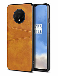 cheap -Phone Case For OnePlus Back Cover Leather Oneplus 7 OnePlus 5T OnePlus 6 Oneplus 7 pro Oneplus 6T one plus 7T one plus 7T Pro Card Holder Solid Color PU Leather