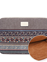 cheap -11.6 Inch Laptop / 12 Inch Laptop / 13.3 Inch Laptop Sleeve Canvas Lines / Waves for Men for Women for Business Office Water Proof Shock Proof