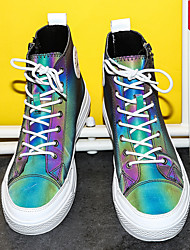 cheap -Men's / Unisex Comfort Shoes Synthetics Spring & Summer / Fall & Winter Sneakers Rainbow / Silver