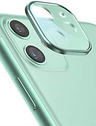Недорогие -металлический край закаленное стекло объектив камеры протектор на iphone 11