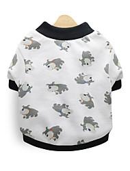 cheap -Dog Shirt / T-Shirt Hoodie Winter Dog Clothes White Costume Cotton Print Cosplay XS S M L
