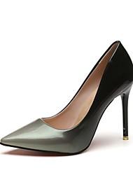 cheap -Women's Heels Stiletto Heel Pointed Toe PU Fall Red / Gray