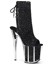 cheap -Women's Boots Stiletto Heel Peep Toe PU Booties / Ankle Boots British Fall & Winter Black / White / Gold / Wedding / Party & Evening