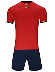 cheap -Men's Soccer Jersey and Shorts Clothing Suit Breathable Quick Dry Soft Team Sports Active Training Football Cotton Adults Teen White Ruby Yellow / Micro-elastic