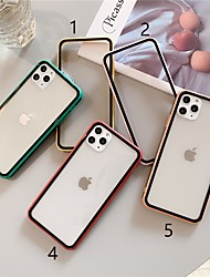 cheap -Case For Apple iPhone 11 / iPhone 11 Pro / iPhone 11 Pro Max Ultra-thin Back Cover Solid Colored TPU / Tempered Glass
