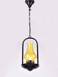 Недорогие -QIHengZhaoMing 20 cm Подвесные лампы Металл Стекло Винтаж 110-120Вольт / 220-240Вольт