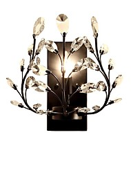 cheap -American Country Single Head Wall Lamp European Style Living Room Bedroom Bedside Wall Lamp Creative Retro Iron Candle Crystal Wall Lamp