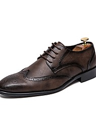 cheap -Men's Formal Shoes PU Spring & Summer Oxfords Black / Brown