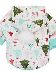 cheap -Dog Hoodie Winter Dog Clothes White Green Red Costume Plush Fabric Print Cosplay XS S M L