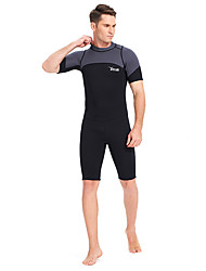 cheap -YON SUB Men's Shorty Wetsuit 3mm Neoprene Diving Suit Thermal / Warm Short Sleeve Back Zip - Swimming Diving Spring Summer Fall