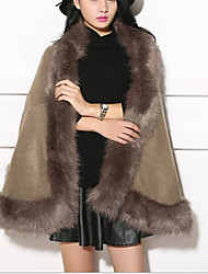 cheap -Sleeveless Capes Faux Fur / Imitation Cashmere Wedding / Party / Evening Women's Wrap With Solid / Fur