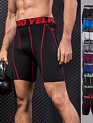 cheap -YUERLIAN Men's Compression Shorts Black Black / Red Green / Black Burgundy Blue Running Fitness Gym Workout Shorts Underwear Sport Activewear Breathable Quick Dry Butt Lift Tummy Control Power Flex