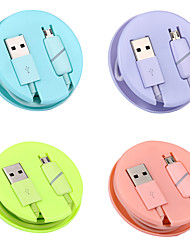 cheap -Micro USB / Lightning Cable 1.0m(3Ft) Retractable / LED / Quick Charge TPE USB Cable Adapter For iPad / Samsung / Xiaomi