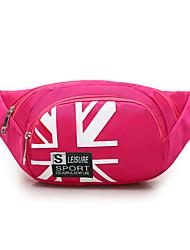Недорогие -Универсальные Нейлон Поясная сумка Цветочный принт Черный / Лиловый / Пурпурный