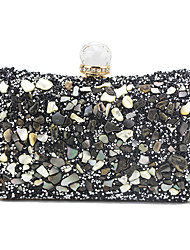 cheap -Women's Chain PU Evening Bag Color Block Black / Gold / Silver