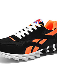 cheap -Men's Light Soles Mesh Spring & Summer Sporty Athletic Shoes Running Shoes Breathable Color Block Black and White / Pink / White / Orange / Black