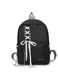 cheap -Adjustable Nylon Zipper Commuter Backpack Daily Black / Red / Light Grey