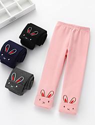cheap -Kids Girls' Print Pants Black
