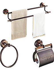 cheap -ORB  Solid Brass 5pcs - Towel bar /Toilet Paper Holders / Towel Rings Wall Mounted Oil-rubbed Bronze Brass