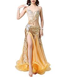 cheap -Belly Dance Dresses Women's Performance PVC Crystals / Rhinestones / Paillette Dress