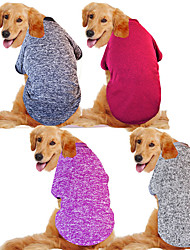 abordables -Chien Manteaux Hiver Vêtements pour Chien Chaud Violet Rouge Gris Anniversaire Costume Husky Labrador Malamute d'Alaska Mélange Poly / Coton Décontracté / Quotidien Garder au chaud XXXL XXXXL XXXXXL