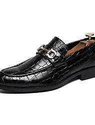baratos -Homens Sapatos Confortáveis Couro Ecológico Outono & inverno Mocassins e Slip-Ons Preto / Marron