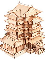 Недорогие -3D пазлы Деревянные пазлы Китайская архитектура моделирование Ручная работа деревянный 303 pcs Детские Взрослые Все Игрушки Подарок
