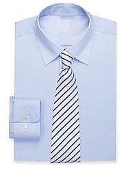 Недорогие -дым голубой хлопчатобумажной рубашке