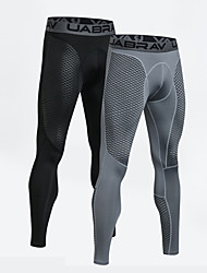 cheap -UABRAV Men's Running Tights Compression Pants Sports Winter Leggings Running Basketball Fitness Jogging Breathable Quick Dry Color Block Black Gray / Stretchy / Skinny