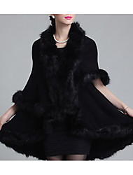 cheap -Sleeveless Capes Faux Fur / Imitation Cashmere Wedding Wedding  Wraps / Fur Coats / Hoods & Ponchos With Feathers / Fur