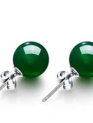cheap -Women's Agate Earrings Geometrical Flower Stylish Earrings Jewelry Light Green / Light Red For Gift Daily 1 Pair