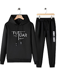 cheap -Men's Casual / Basic Activewear Set - Letter Black US34 / UK34 / EU42
