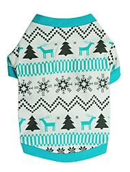 cheap -Dog Shirt / T-Shirt Winter Dog Clothes Light Blue Costume Cotton Print Cosplay XS S M L