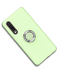 cheap -Case For Huawei Huawei P20 / Huawei P20 Pro / Huawei P30 Ring Holder / Frosted Back Cover Solid Colored Silica Gel