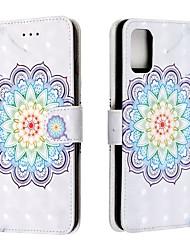 Недорогие -чехол для Samsung Galaxy a10 / галактики A30 / A50 галактика (2019) держатель бумажника / карт / флип полных случаев тела цветок пу кожи для галактики a20 / a20e / a40 / a60 / a51 / a70 / A80 / A90