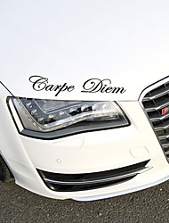 cheap -2pcs Carpe Diem Car Stickers Vinyl Car Styling Art Sticker Creative Car Window Body Lettering Decal Decor DIY Accessories