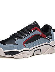 cheap -Men's Comfort Shoes PU Spring & Summer / Fall & Winter Sporty / Casual Athletic Shoes Running Shoes / Fitness & Cross Training Shoes Non-slipping Color Block Black / Blue / Beige