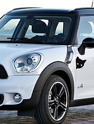 Недорогие -Кошка лицо животное стикер автомобиля милый автомобиль наклейка крышка царапинам стикер автомобиля грузовик окна бампера стены светоотражающие наклейки